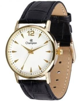Relógio Champion Clássico Pulseira De Couro Ch24062m