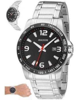 Relógio Magnum Masculino Ma32961t Casual Prateado