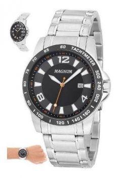 Relógio Prata Magnum Masculino Ma33086t Casual Prateado
