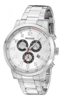 Relógio Masculino Original Magnum Cronógrafo Prata Ma33166q