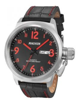 Relógio Magnum Masculino Prova Dágua Ma33415v Vermelho Aço