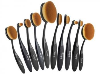 Kit Maquiagem Pincel Escova Oval 10pcs Kimpop Pinceis