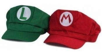 2 Bonés Mario Bros Boina Chapéu Cosplay Pronta Entrega
