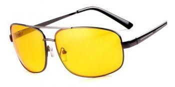 Óculos Visão Noturna P/ Dirigir A Noite Lente Amarela