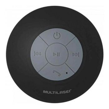 Mini Caixa De Som Bluetooth Shower Speaker 8w Rms Multilaser