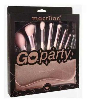 Kit Pincel Com Estojo Macrilan Ed007 Profissional - Go Party