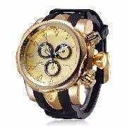Relógio Masculino Original Amuda Venom Dourado Black Grande