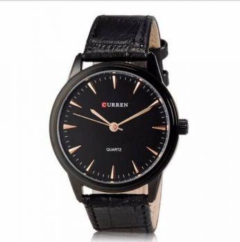 Relógio De Luxo Curren Preto Redondo Resistente A Água