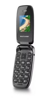 Celular Multilaser Flip Up Dual Chip Mp3 32mb Preto P9022