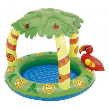 Banheira Tropical Bebe Infantil Piscina Banho Boia Mor 45l