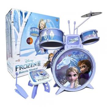 Bateria Musical Infantil Frozen Com Acessórios  - Toyng