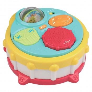 Bateria Tambor Musical P Criança Infantil Brinquedo Bebe Luz