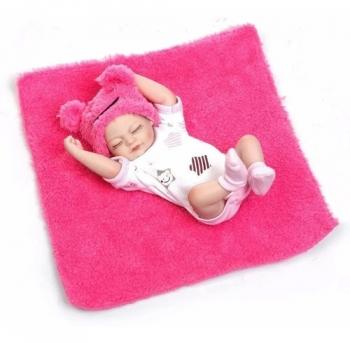 Bebê Mini Reborn Corpo de Silicone Unitário