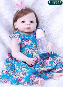 Bebê Reborn Boneca Reborn Menina Silicone Realista