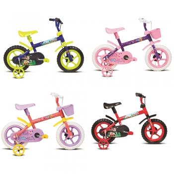Bicicleta Infantil Aro 12 Menino Menina Princesas Jack Paty