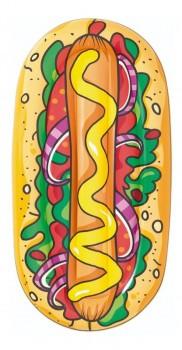 Boia Colchão Inflável Piscina Praia Divertida Hotdog