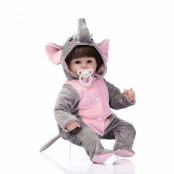 Boneca Baby Reborn Linda Menina Princesa Elefante - DUPL