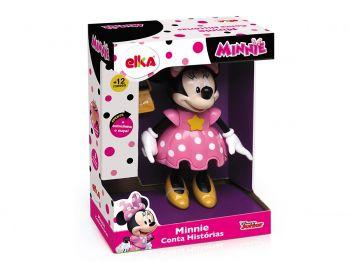 Boneca Minnie Conta Histórias 25cm Rosa - Elka Brinquedos