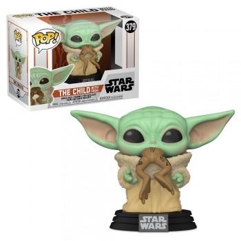 Boneco Funko Pop The Mandalorian Baby Yoda Com Sapo 379 Star Wars