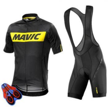 Bretelle E Camisa Ciclismo Equipes Mavic Gel 9d Preto