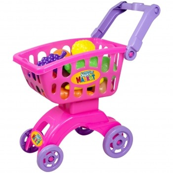Brinquedo Cozinha Infantil Carrinho Super Market Braskit