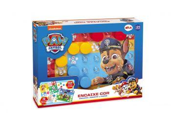 Brinquedo Jogo D Atividades Encaixe Cor Elka Patrulha Canina