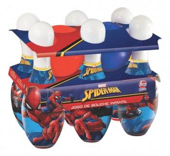 Brinquedo Jogo De Boliche Infantil Homem Aranha Vingadores Marvel Lider 2538