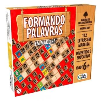 Brinquedo Pedagógico Em Madeira Formando Palavras Jogo