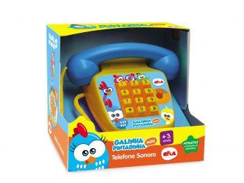 Brinquedo Telefone Infantil Music Foninho Galinha Pintadinha Elka