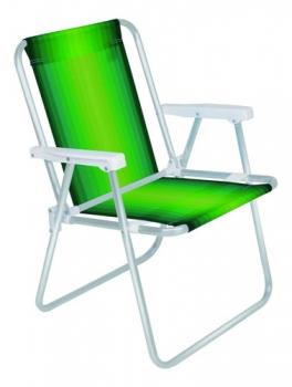 Cadeira De Praia Alta Alumínio Cores 2101 Mor
