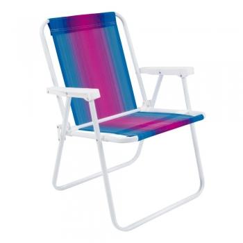 Cadeira De Praia Promoção Em Aço Várias Cores 2002 Mor Forte