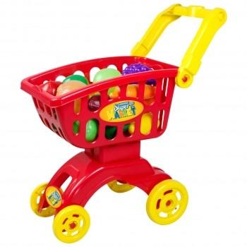 Carrinho Infantil Super Market Vermelho 18 Peças