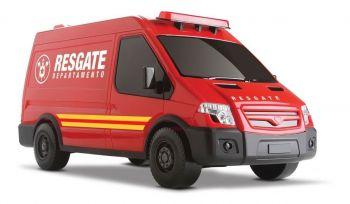 Carrinho Infantil Van Supervan Resgate - Roma Brinquedos