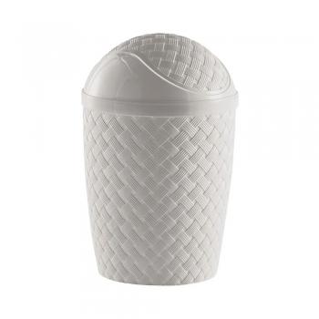 Cesto Lixo Branco Basc. Rattan Banheiro Cozinha 7,8 L 830