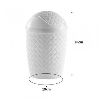 Cesto Lixo Rattan Banheiro Cozinha 4,2 L Varias Cores 829