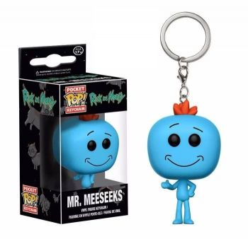 Chaveiro Mr. Meeseeks - Rick And Morty - Pocket Pop! Funko
