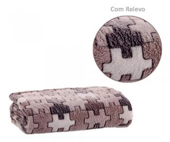 Cobertor Manta Casal Jolitex Com Relevo Anti Alérgico Flannel Sollievo