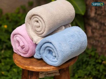 Cobertor Manta Microfibra Bebê Liso 110x80cm Azul Ou Rosa
