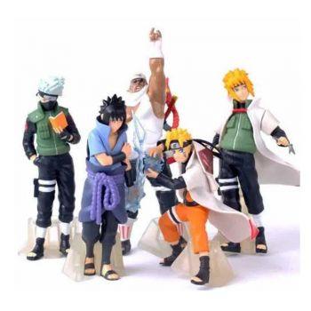 Colecao 5 Bonecos Naruto Uzumaki Kakashi Minato Sasuke Dbz
