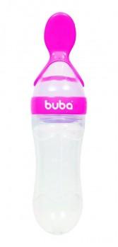 Colher Dosadora Silicone Rosa Para Refeicao Bebe Colher Mamadeira Alimentadora Papinha Do Bebe Buba Baby
