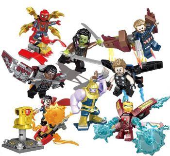 Conjunto Lego Vingadores Guerra Infinita - 8 Pcs Thanos + Manopla