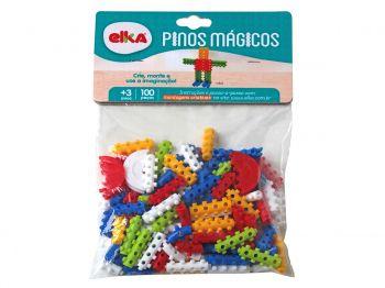 Conjunto Pinos Mágicos 100 Peças Monta Monta Original Elka