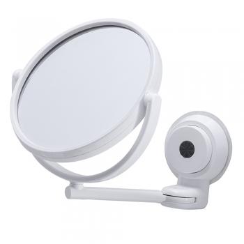 Espelho Ajustável C/ Ventosas Gira 360º Maquiagem Barbear