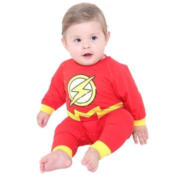 Fantasia Body The Flash Bebê Original Longo