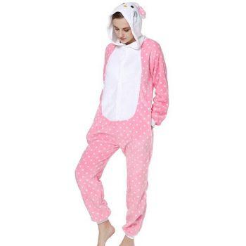 Fantasia Carnaval Pijama Cosplay Onesie Kigurumi Hello Kitty