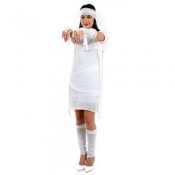 Fantasia De Múmia Feminino Halloween Adulto De Luxo
