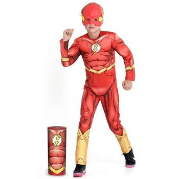 Fantasia Flash Infantil Premium C Músculo Máscara Original - DUPL