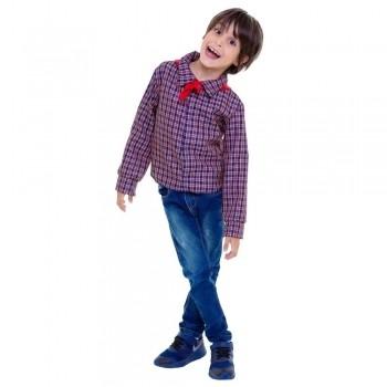 Fantasia Infantil Camisa Azul Festa Junina