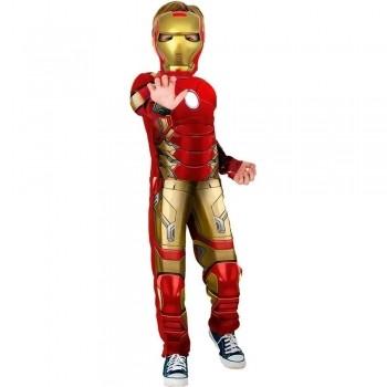 Fantasia Infantil Homem De Ferro Luxo Longa - Rubies