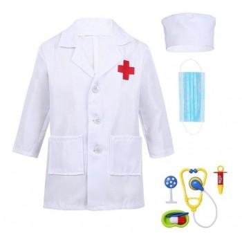 Fantasia Medica Medico Enfermeira Enfermeiro Infantil Roupa